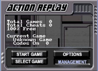 Action Replay GBX (F) [0244] - screen 1