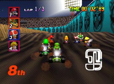 Mario Kart 64 (U) [!] - screen 2