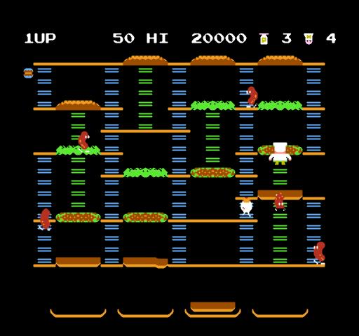 Burger Time (J) - screen 1